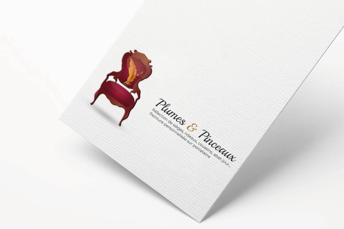 Création logo Tapissier Plumes et Pinceaux