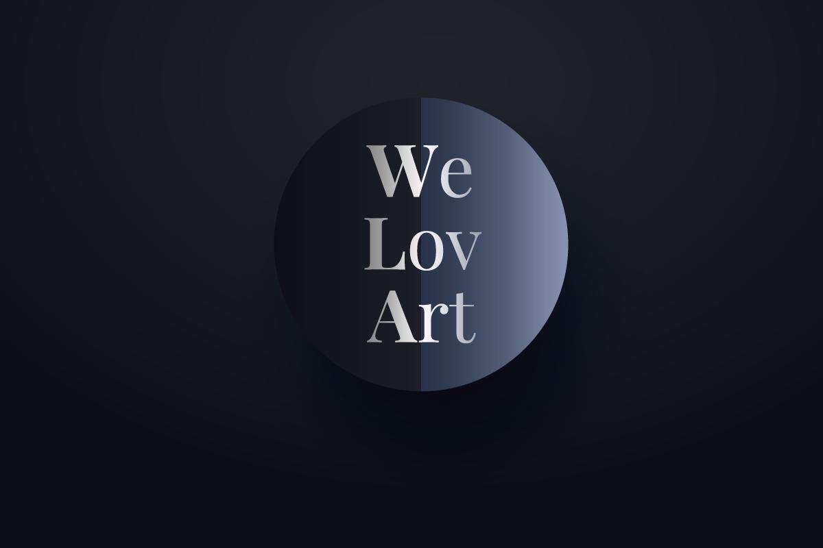 Création logo WeLovArt réseau social et magazine artistique