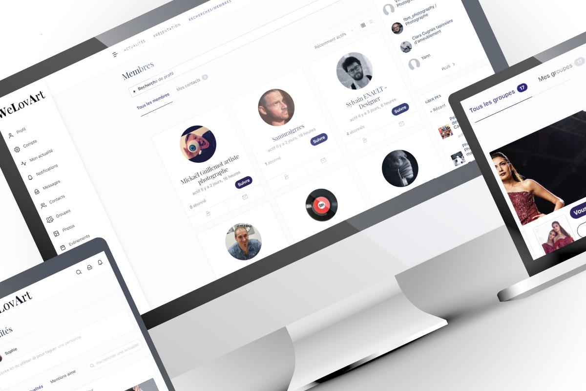 Création site communauté Buddypress WeLovArt