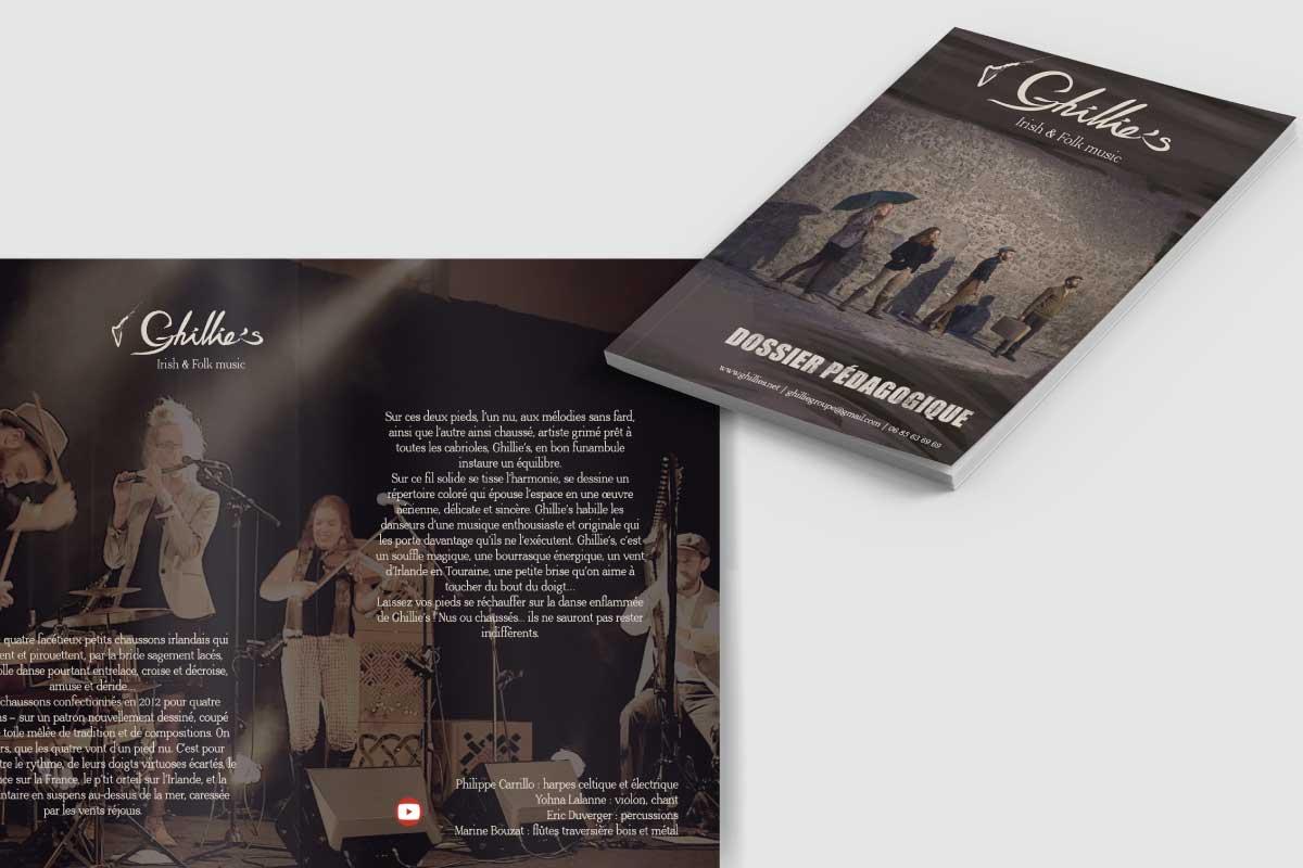 Création de dossier pédagogique et flipbook Ghillie's