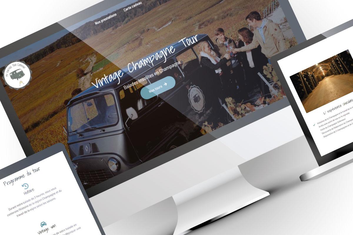 Refonte site myvintagetourcompany.com français anglais