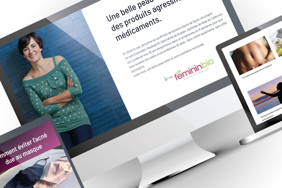 Refonte webdesign du site beauté pure