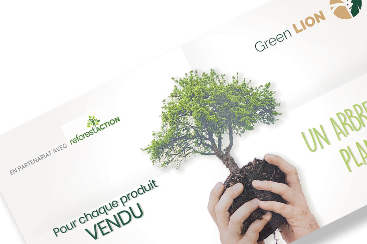Conception bannière Green Lion pour réseaux sociaux
