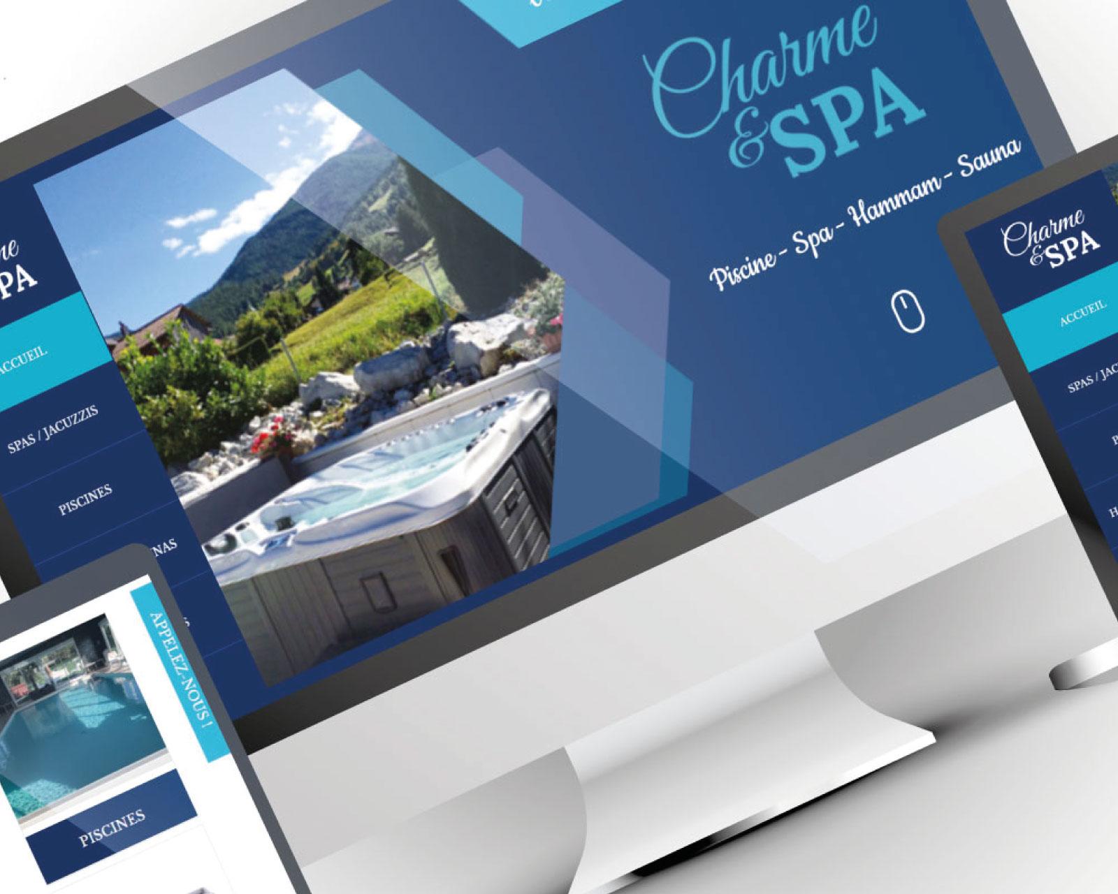Création site catalogue de spas piscines Charme et Spa Tours