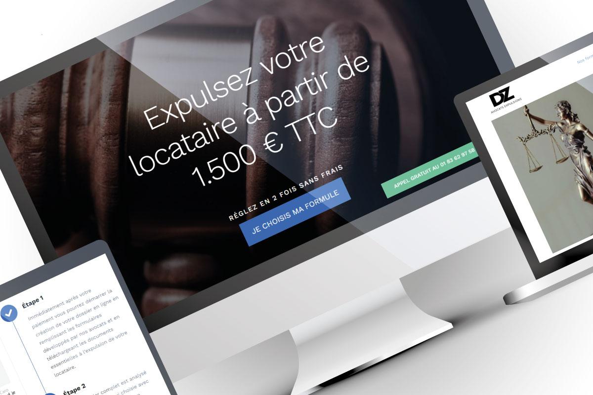 Création site ecommerce DZ Avocats