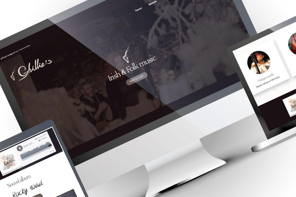 Création site web groupe de musique irlandaise français anglais