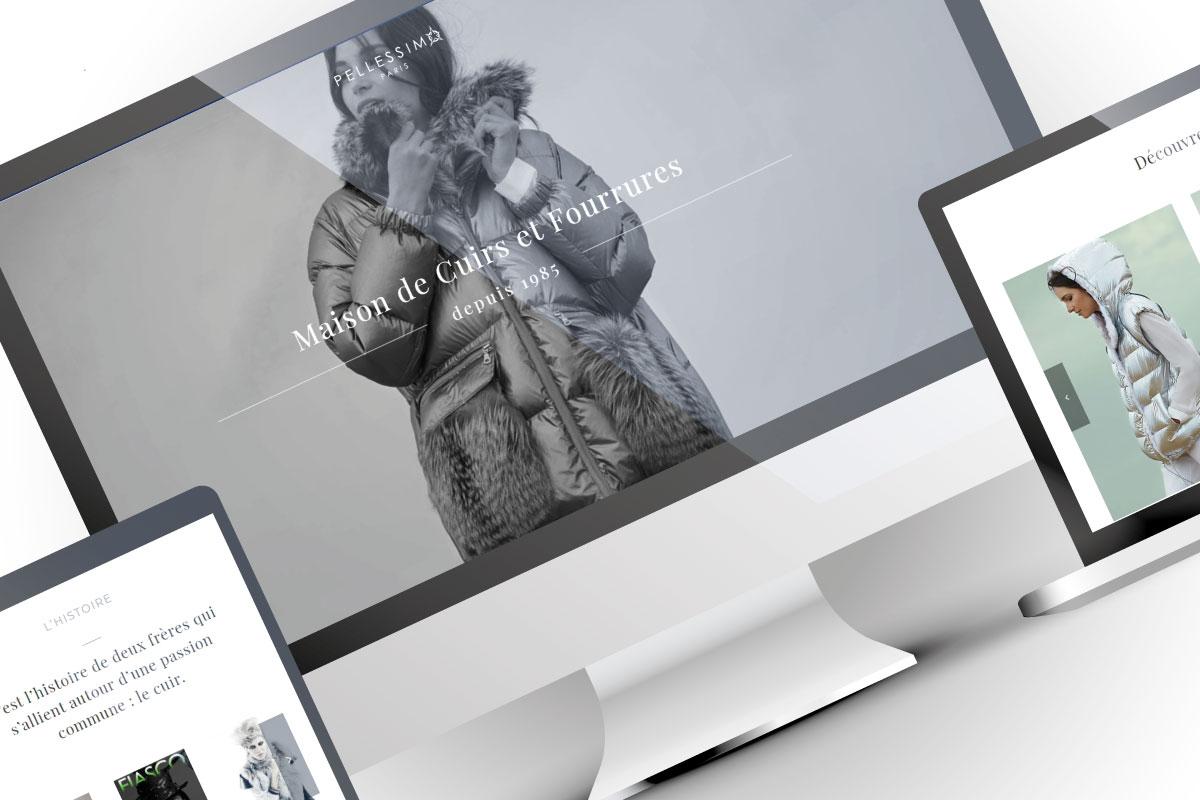 Création site web Pellessimo Paris