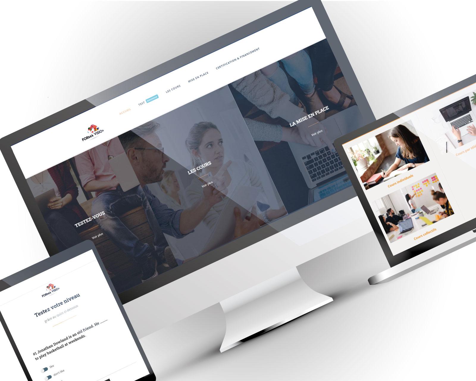 Création site web Institut de formation en langues