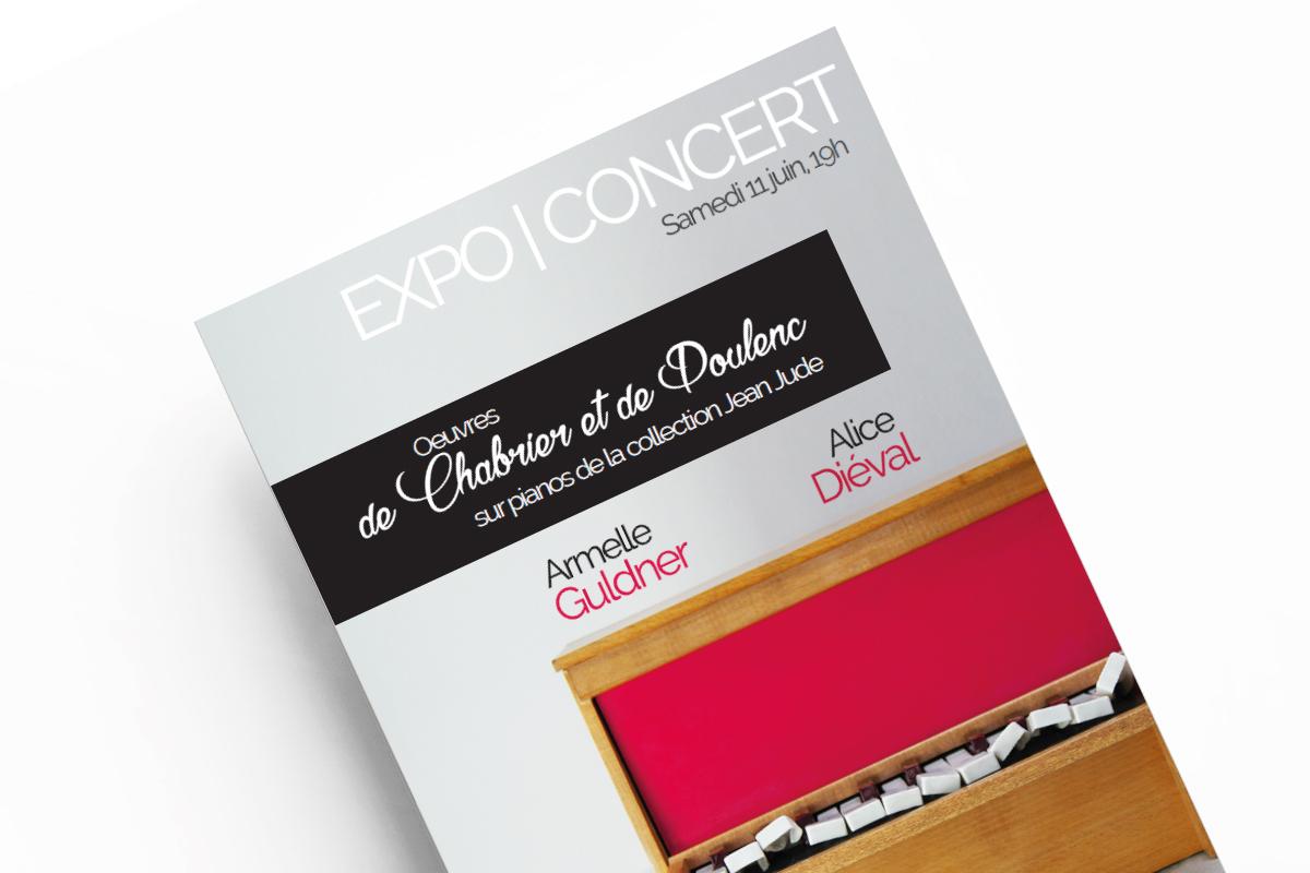 Webdesigner Graphiste Freelance Tours création de flyer concert 2 pianos Armelle Guldner Alice Diéval