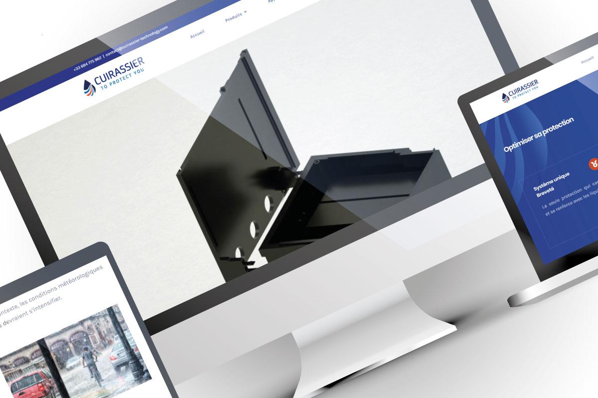 Création site web français-anglais Cuirassier Technology