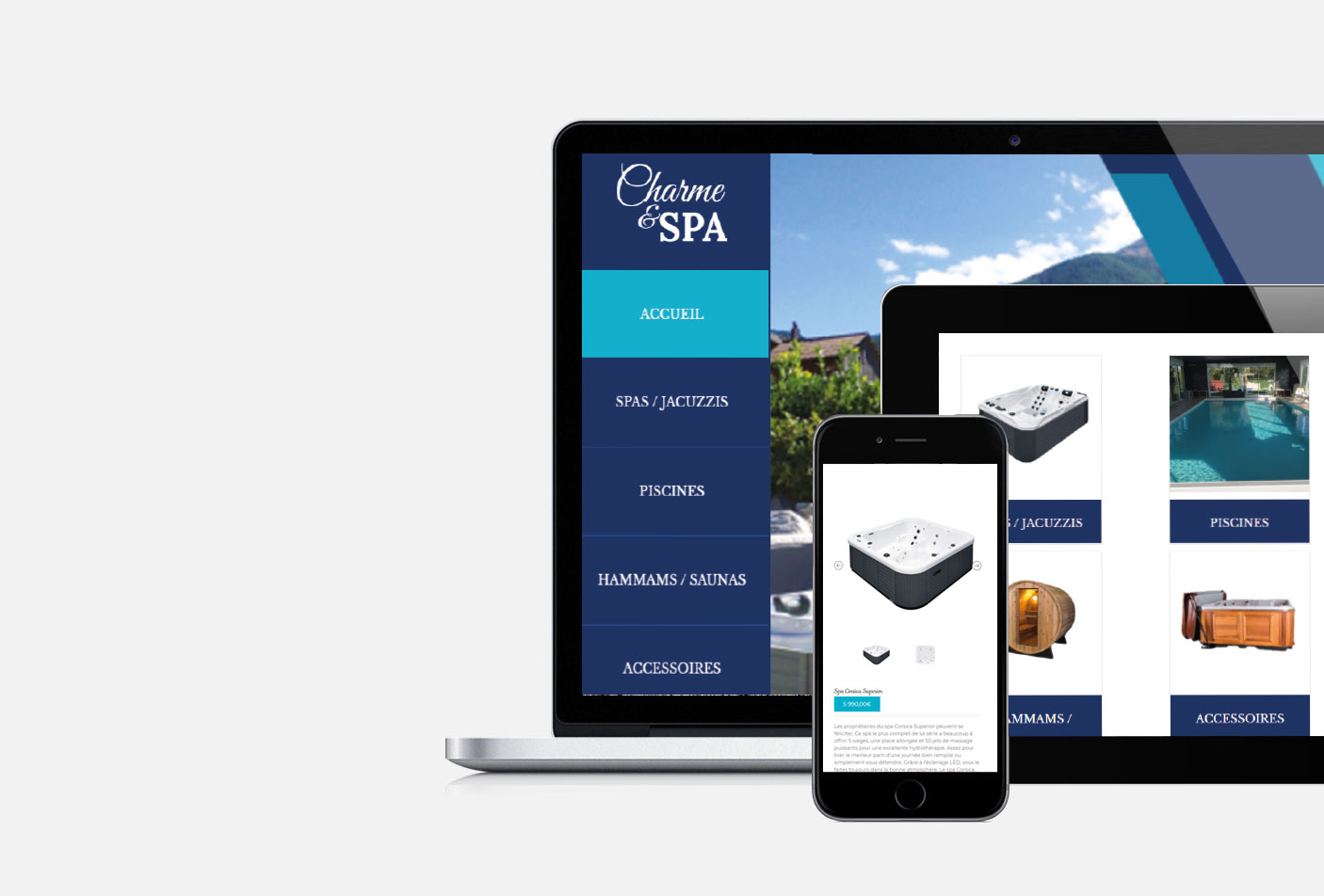 Conception site web e-commerce Charme et Spa Tours