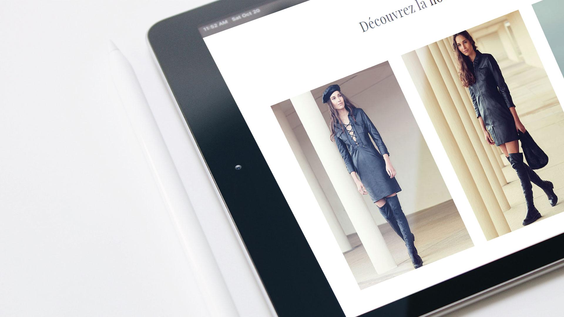 Création site web prêt à porter