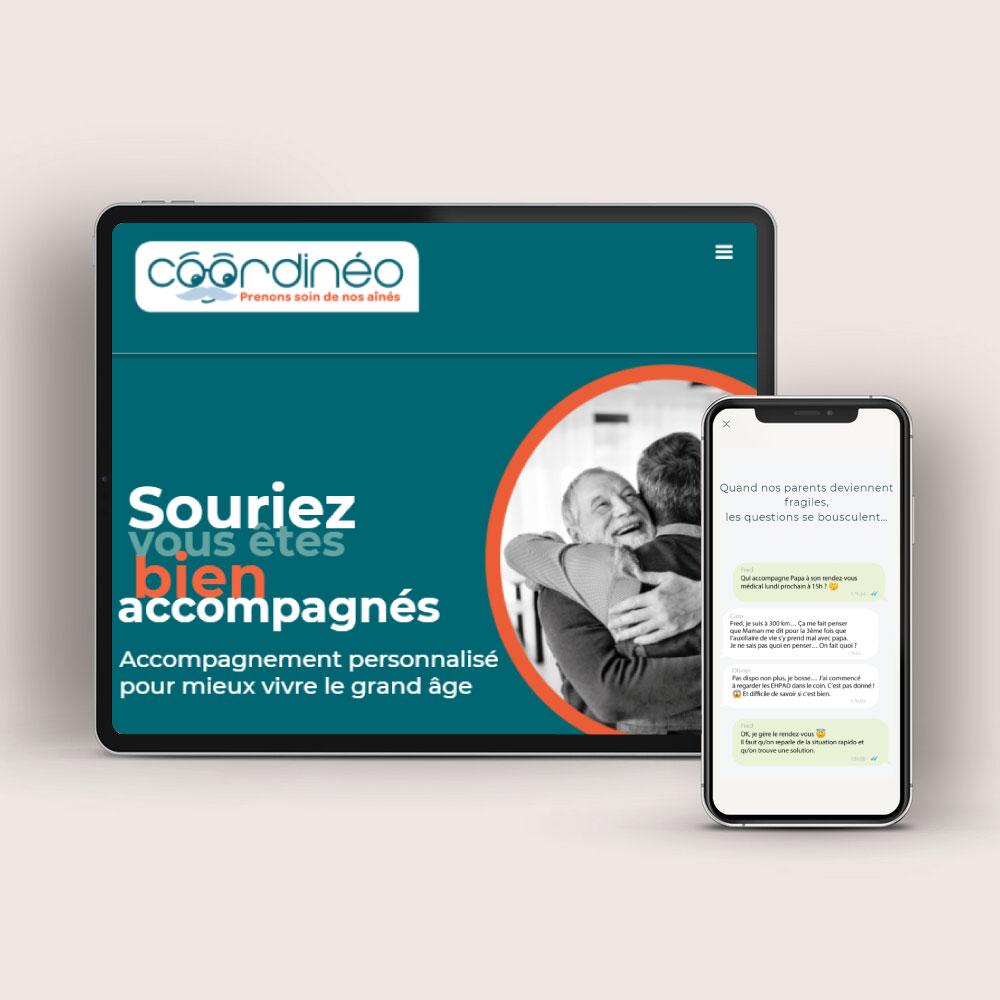 Création site web vitrine Wordpress Coordinéo