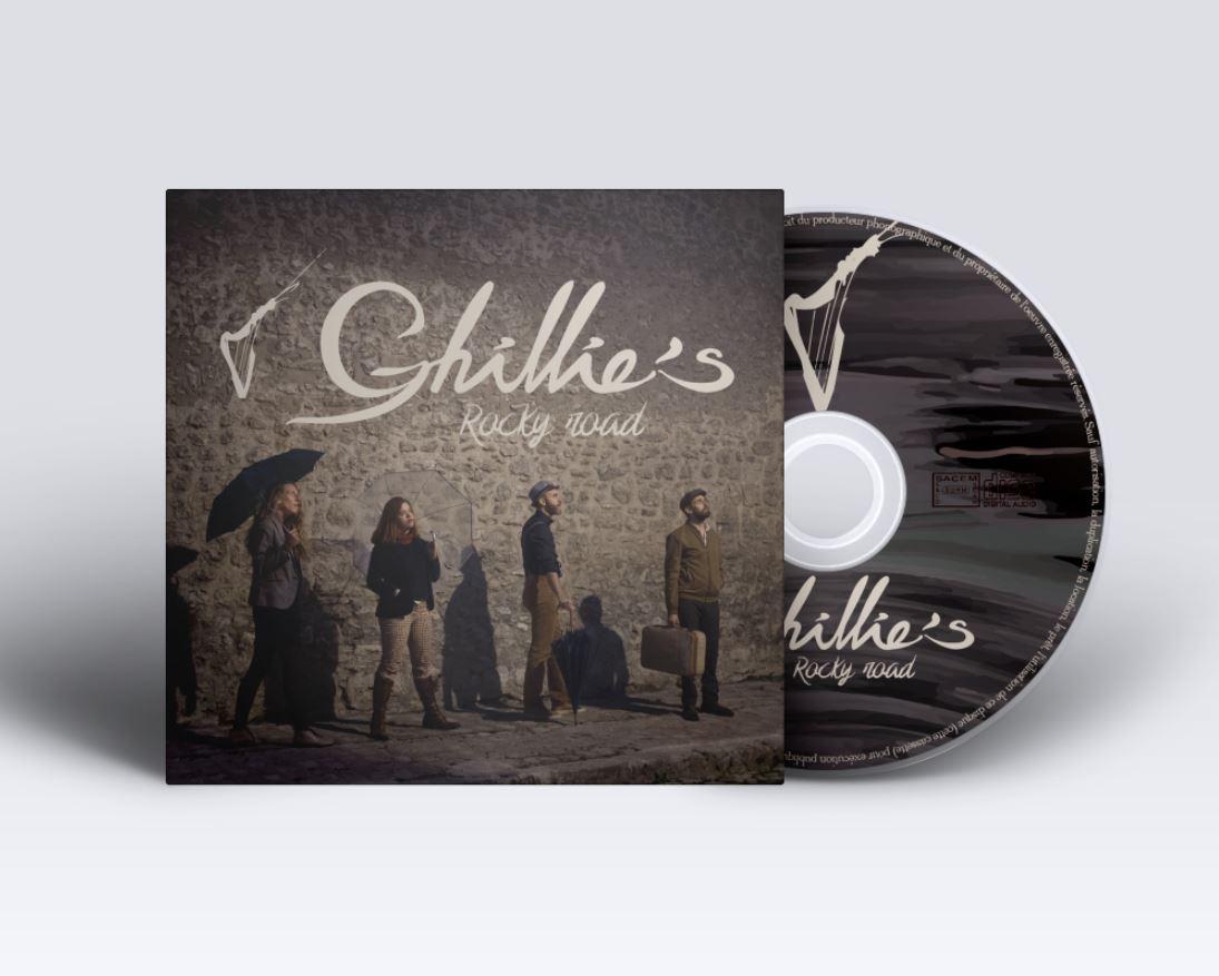 Création coffret CD 3 volets et livret Ghillies