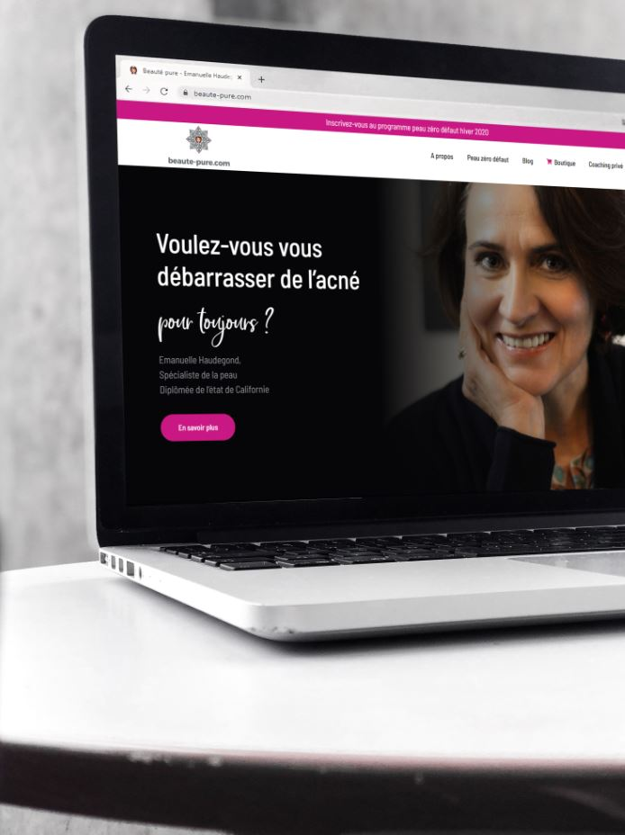 Refonte webdesign site web blog beaute-pure