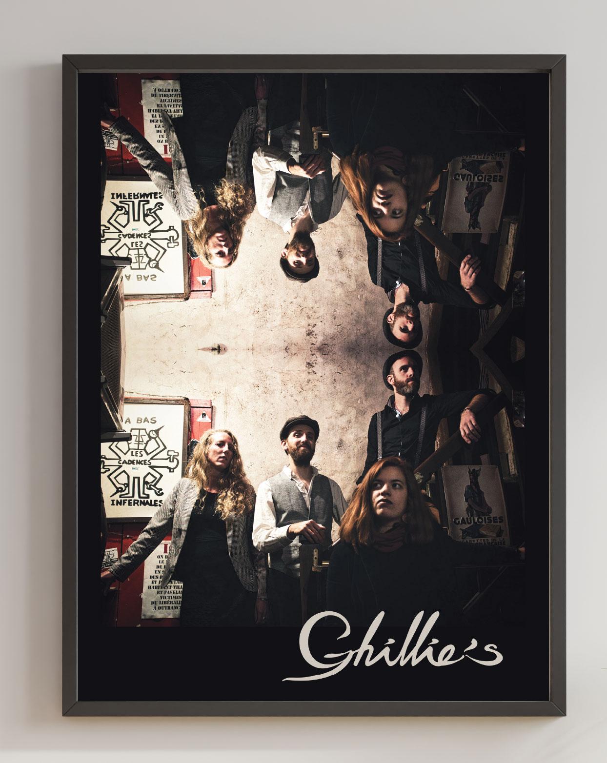 Création affiche du concert groupe de musique irlandaise Ghillie's