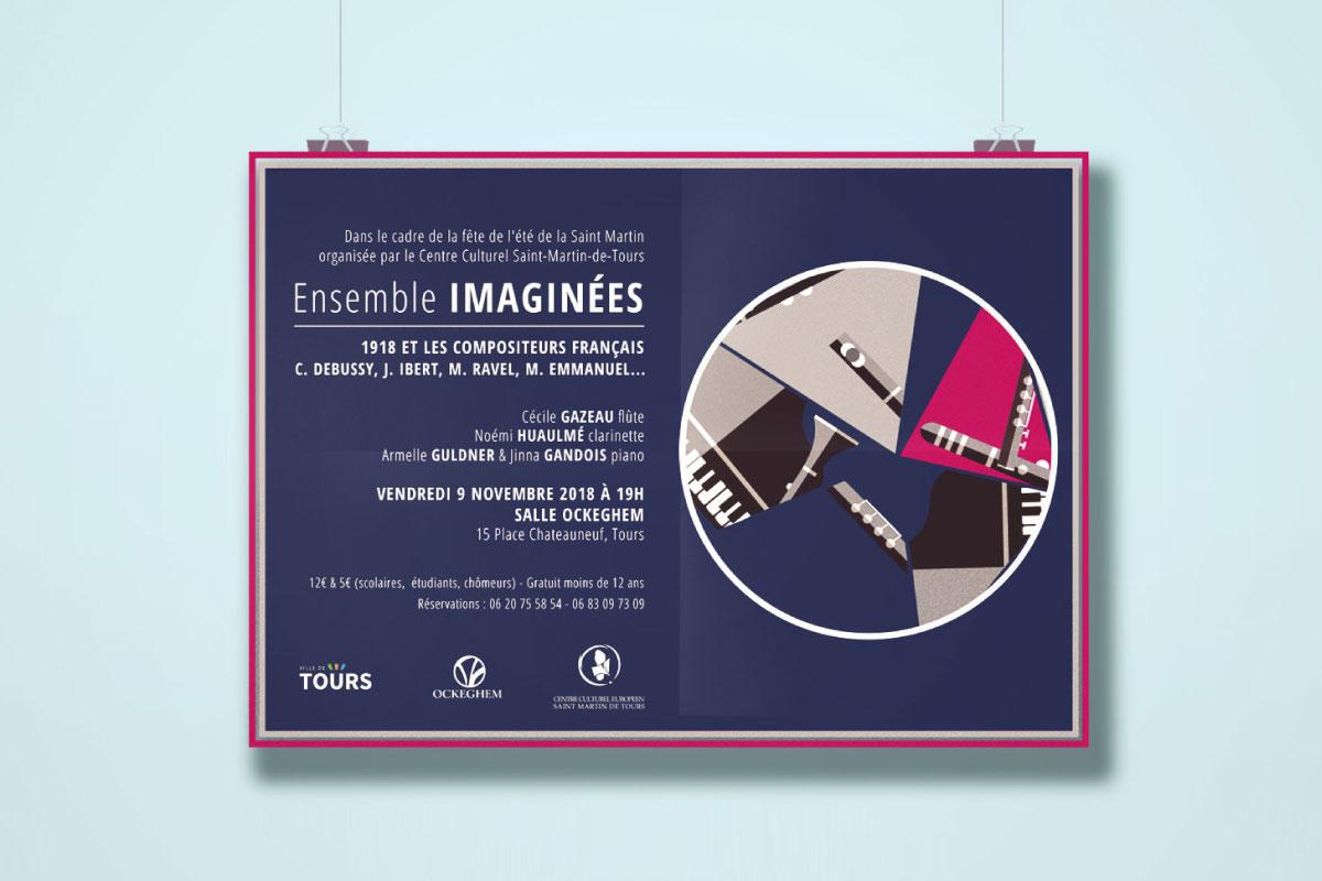 Création affiche évènement concert