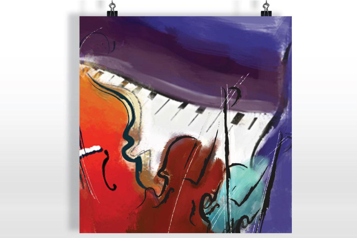 Création de graphismes pour affiche évènement concert de musique