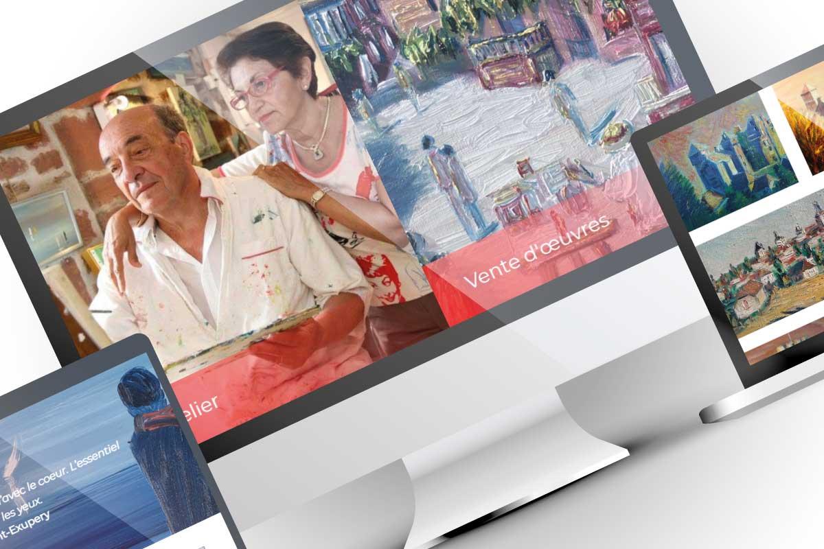 Création site web artiste-peintre