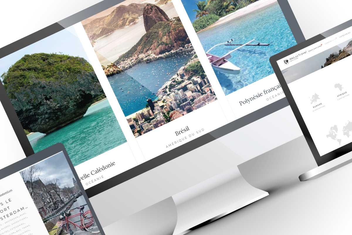 Création de site web WeLovTravel-catalogue de destinations bons-plans